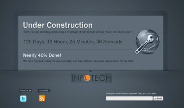 35 Under Construction and Ing soon Website Templates