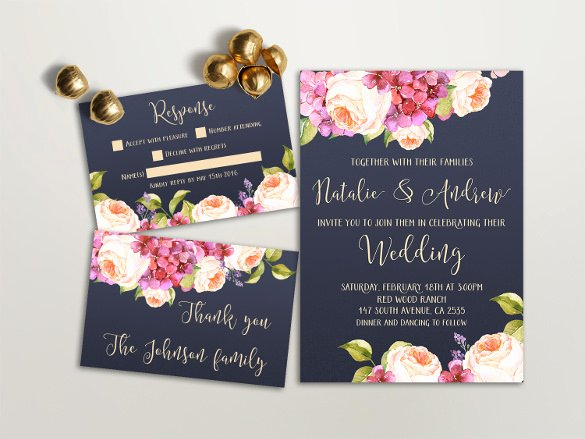 35 Wedding Invitation Templates Free Sample Example