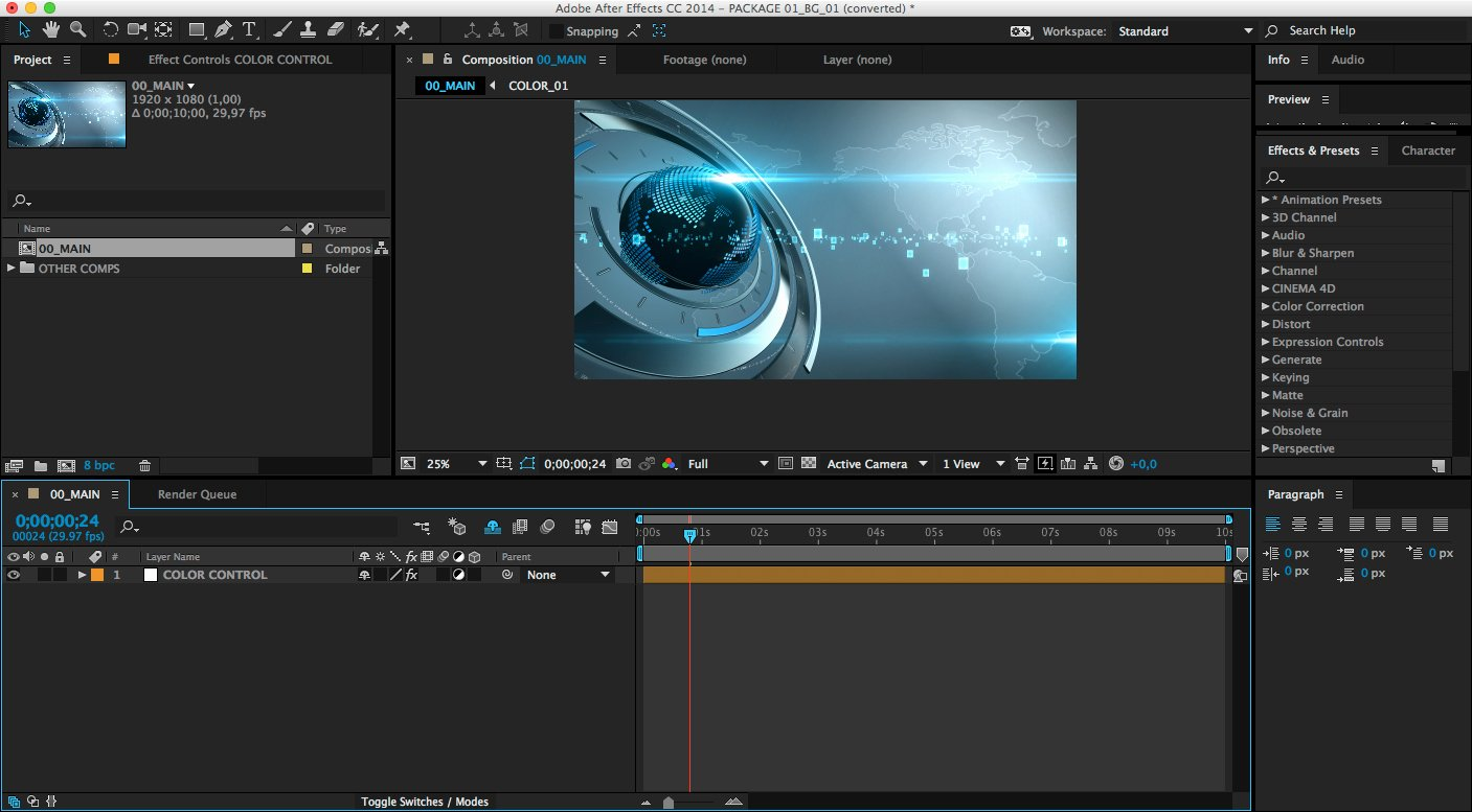 36 Adobe after Effects Free Templates Projects after
