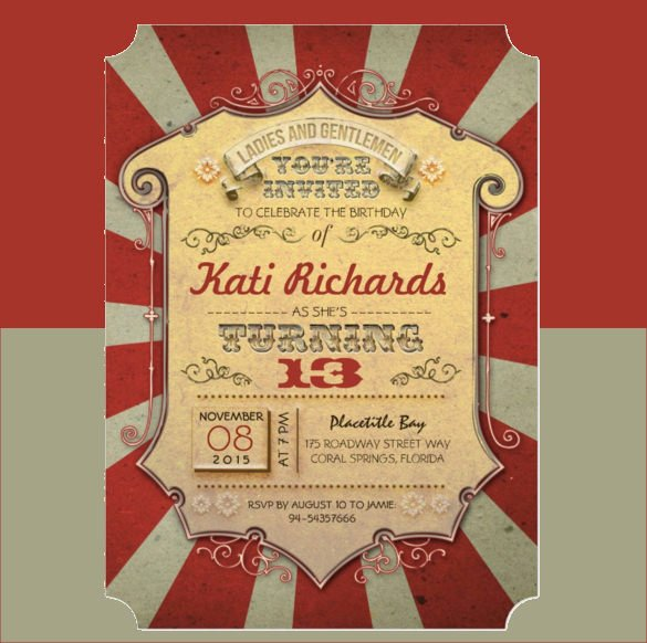 36 Carnival Birthday Invitation Templates Free Sample