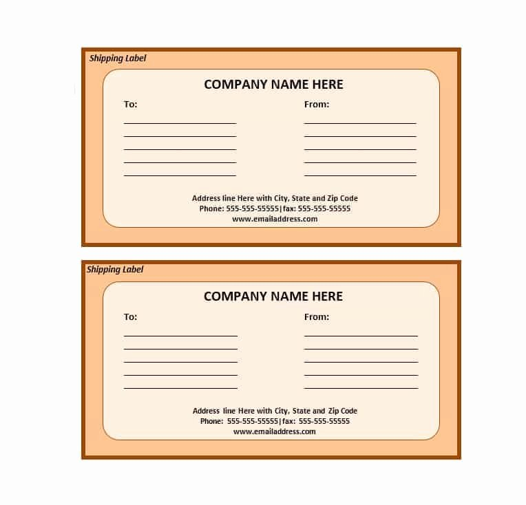 36 Fantastic Label Templates Address Shipping Mailing