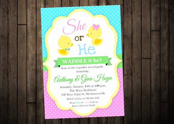36 Gender Reveal Invitation Template