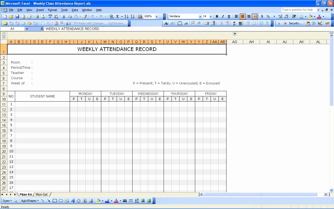 36 general attendance sheet templates in excel