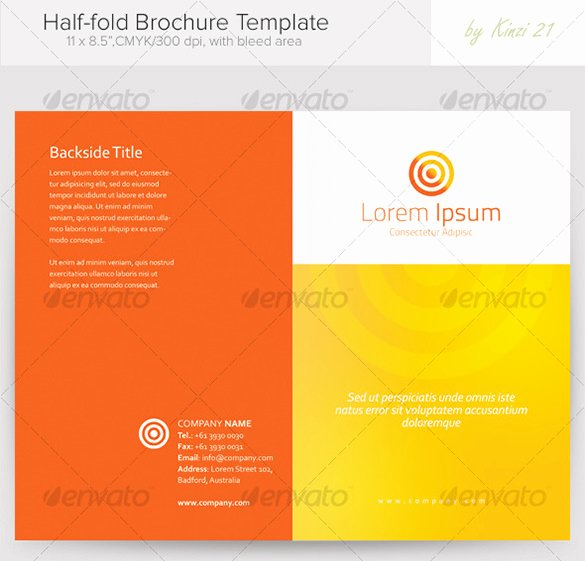 36 Half Fold Brochure Templates