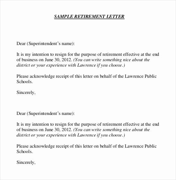 36 Retirement Letter Templates Pdf Doc