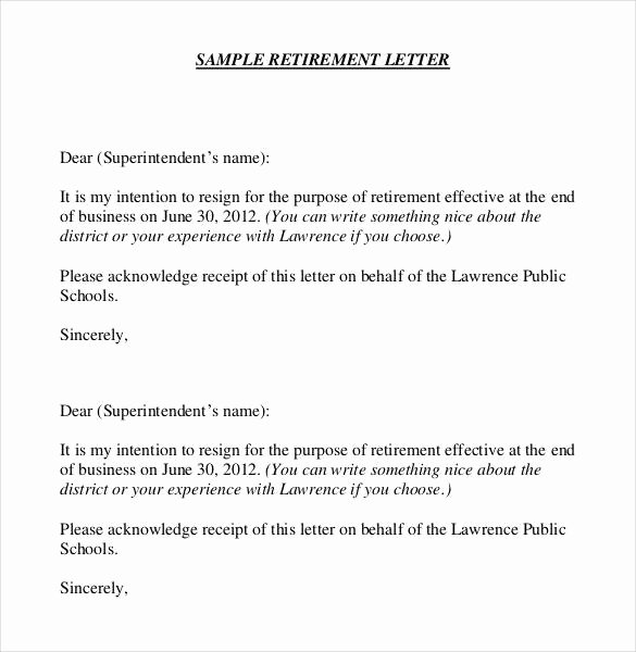36 Retirement Letter Templates Pdf Doc