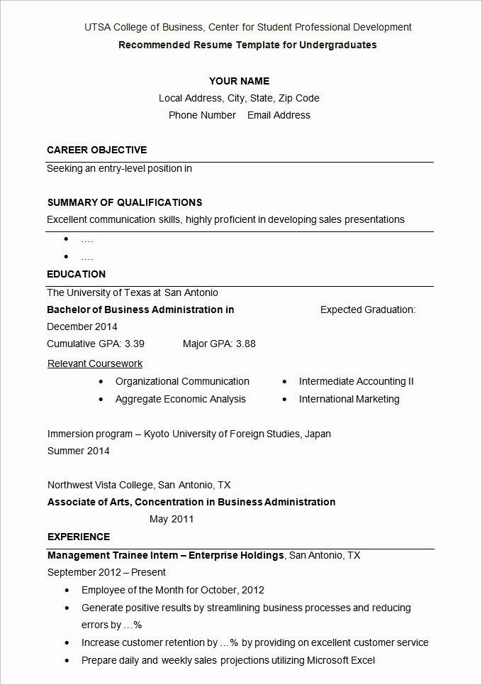 36 Student Resume Templates Pdf Doc