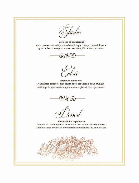 36 Wedding Menu Templates – Free Sample Example format
