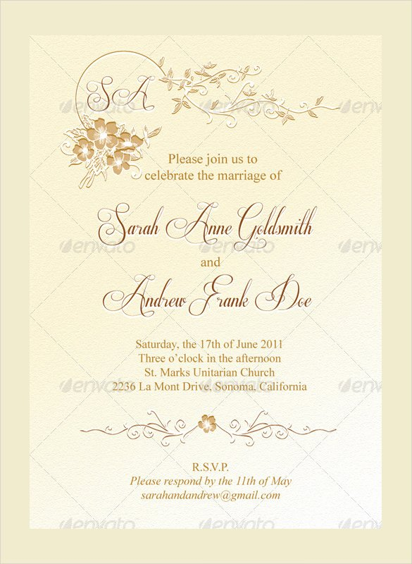 36 Wedding Menu Templates – Free Sample Example format