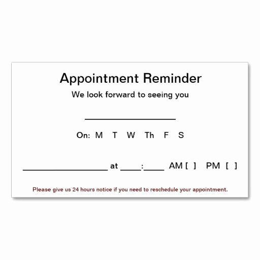 366 Best Images About Appointment Reminder Business Cards