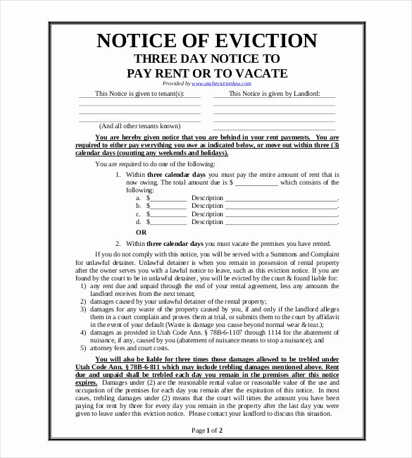 37 Eviction Notice Templates Doc Pdf