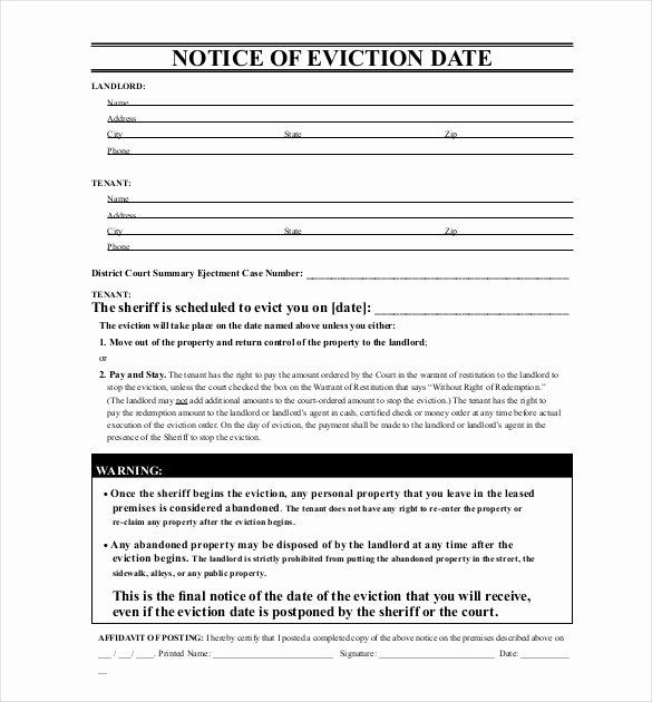 37 Eviction Notice Templates Doc Pdf