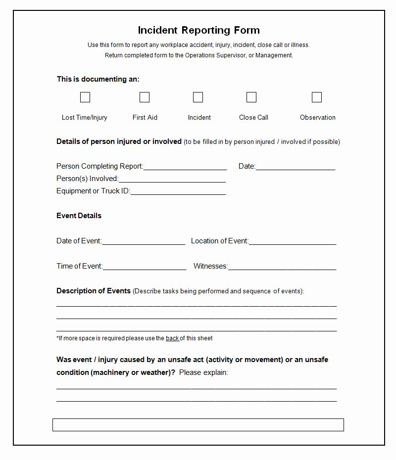 37 Incident Report Templates Pdf Doc Pages