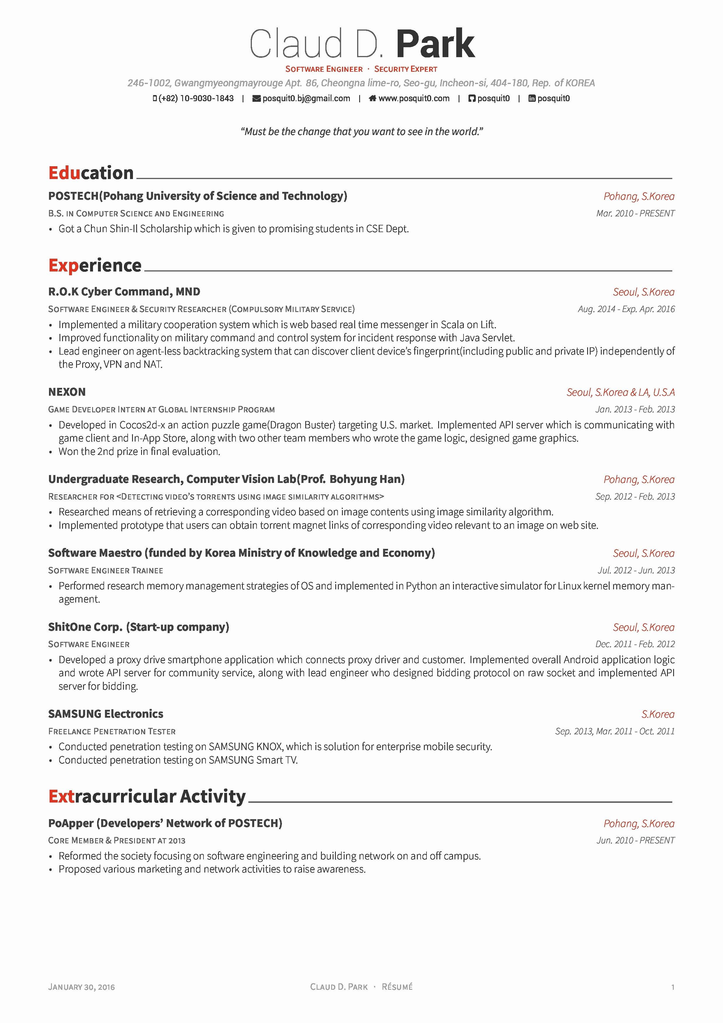 37 Latex Resume Template Academic Sample Phd Resume for