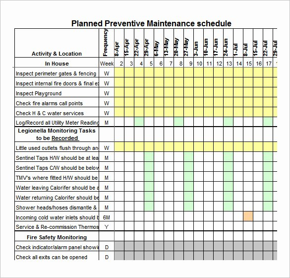 37 Preventive Maintenance Schedule Templates Word