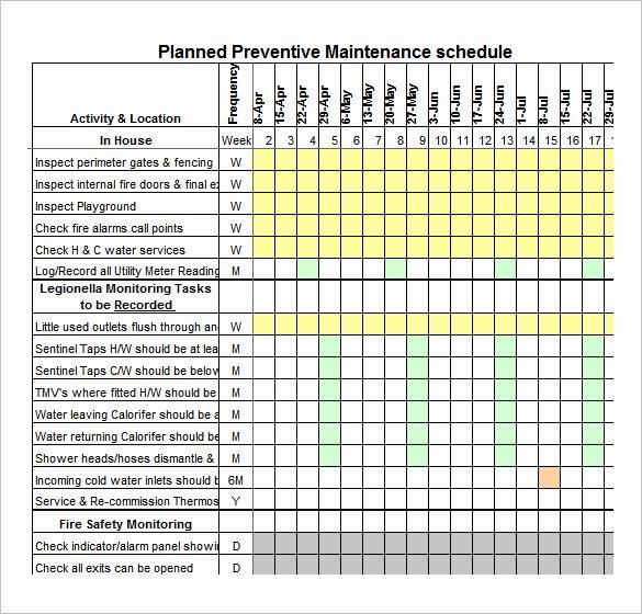 37 Preventive Maintenance Schedule Templates Word
