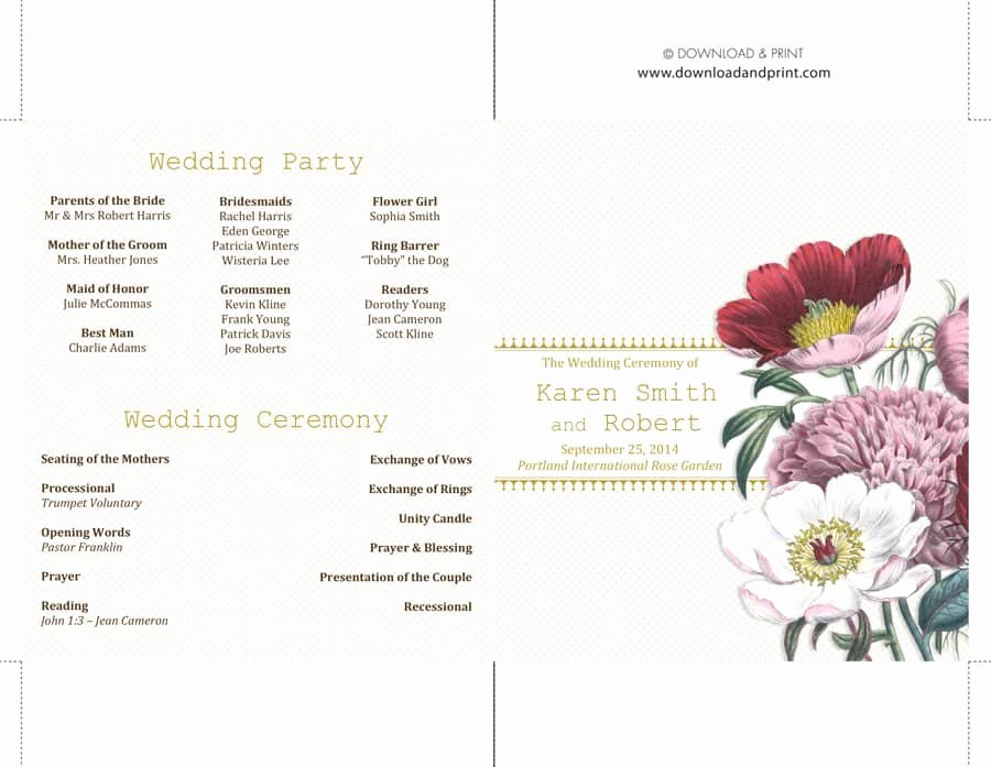 37 Printable Wedding Program Examples & Templates