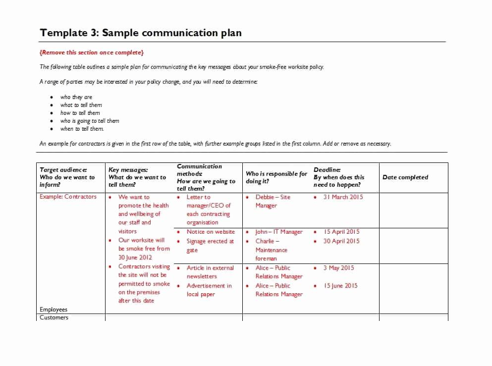 37 Simple Munication Plan Examples Free Templates