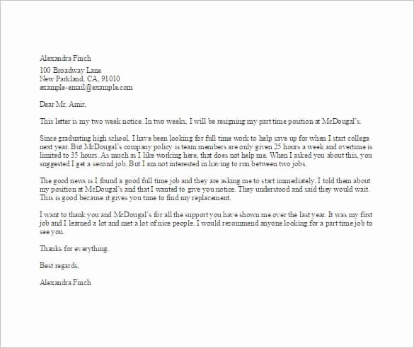 37 Simple Resignation Letter Templates Pdf Doc