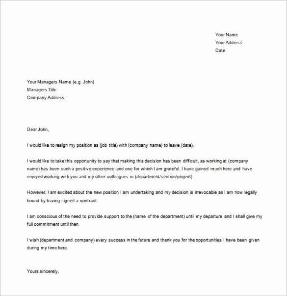 37 Simple Resignation Letter Templates Pdf Doc