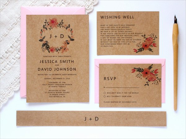 37 Simple Wedding Invitation Templates Psd Ai Word