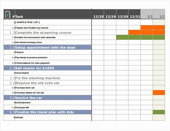 37 Task Tracker Excel Template 7 Project Management