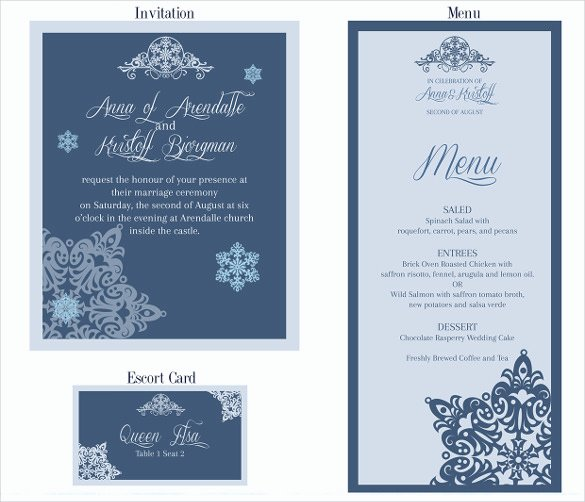 37 Wedding Menu Template – Free Sample Example format