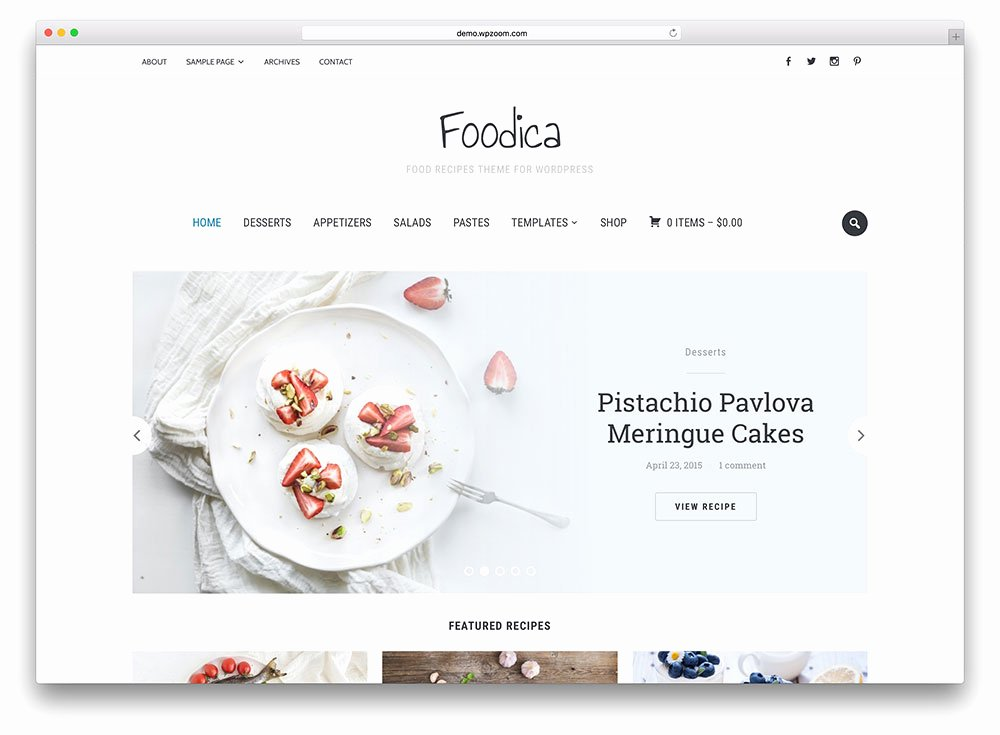 38 Awesome Food Wordpress themes to Recipes 2019