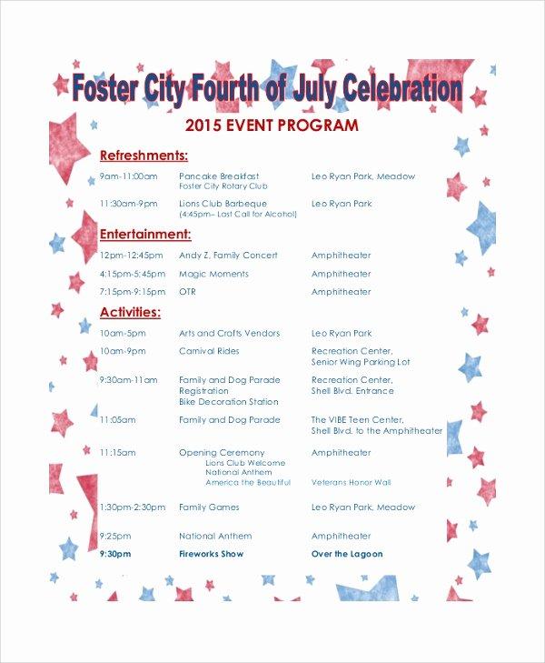 38 event Program Templates – Pdf