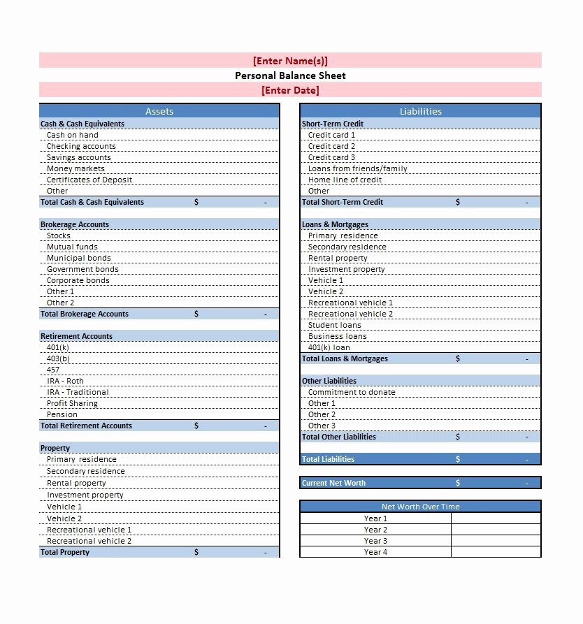 38 Free Balance Sheet Templates & Examples Template Lab