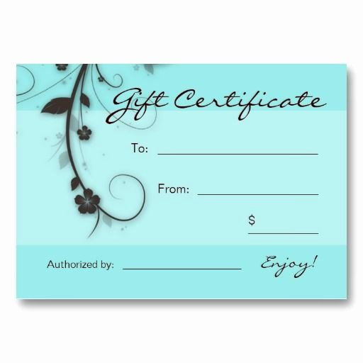 38 Free Printable Hair Salon Gift Certificate Template