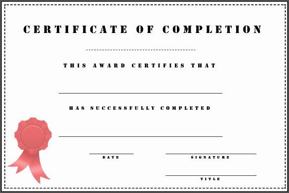 38 Pletion Certificate Templates Free Word Pdf Psd