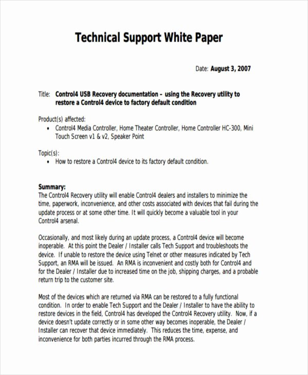 38 Sample White Paper Templates
