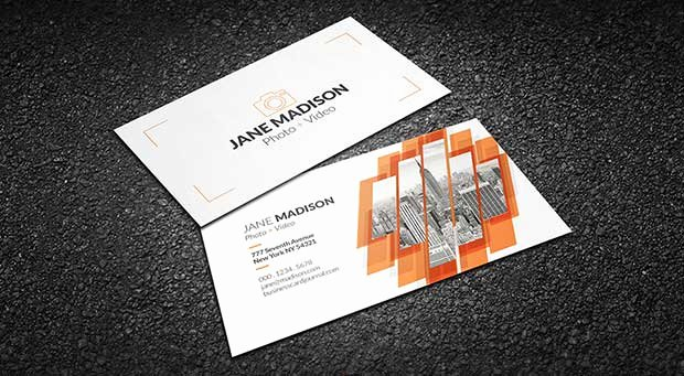 photography business cards free psd template