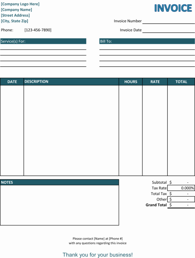 39 Best Templates Of Service Billing Invoice Examples
