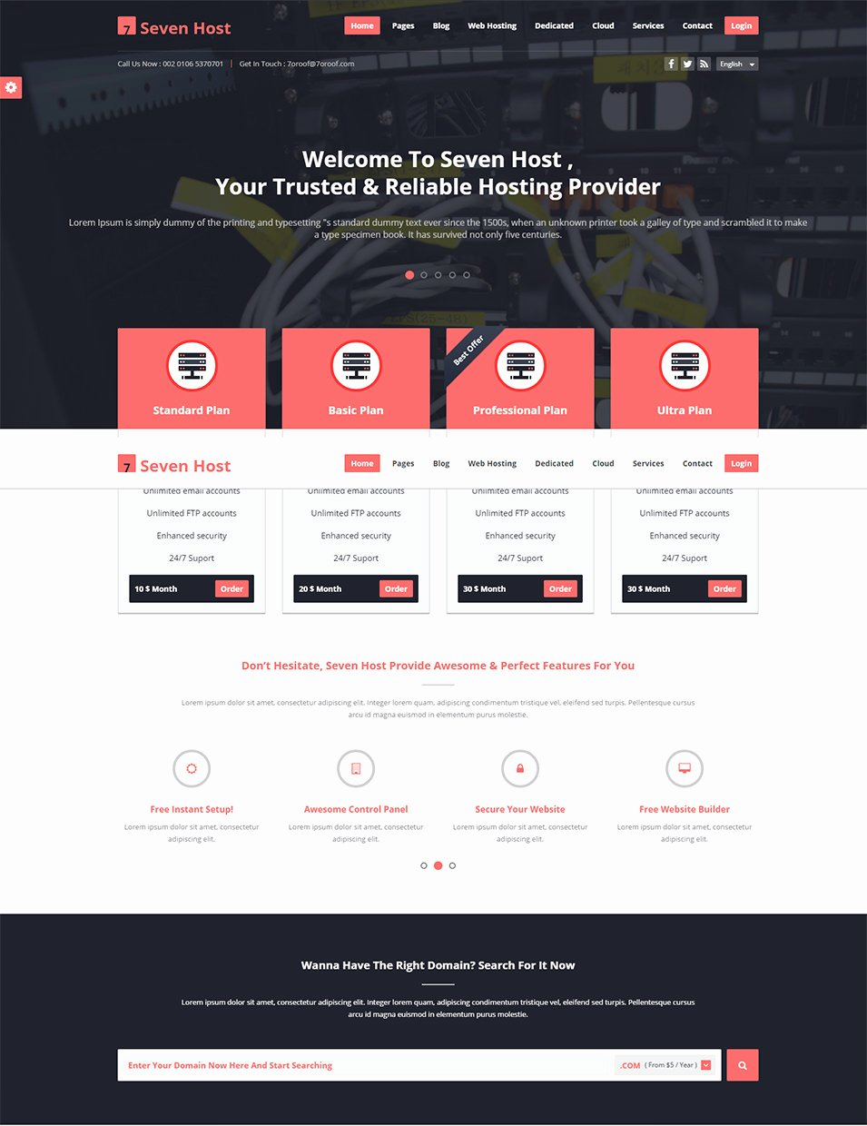 39 Best Web Hosting Website Templates & themes