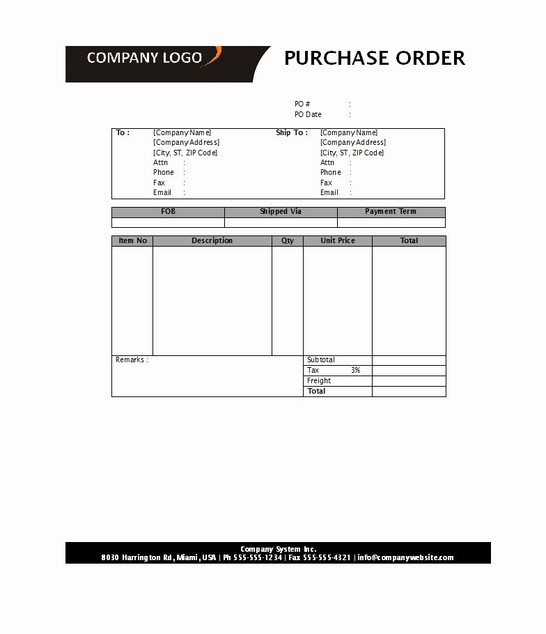 39 Free Purchase order Templates In Word & Excel Free