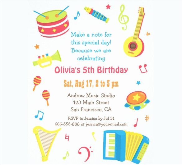 39 Kids Birthday Invitation Templates – Psd Ai