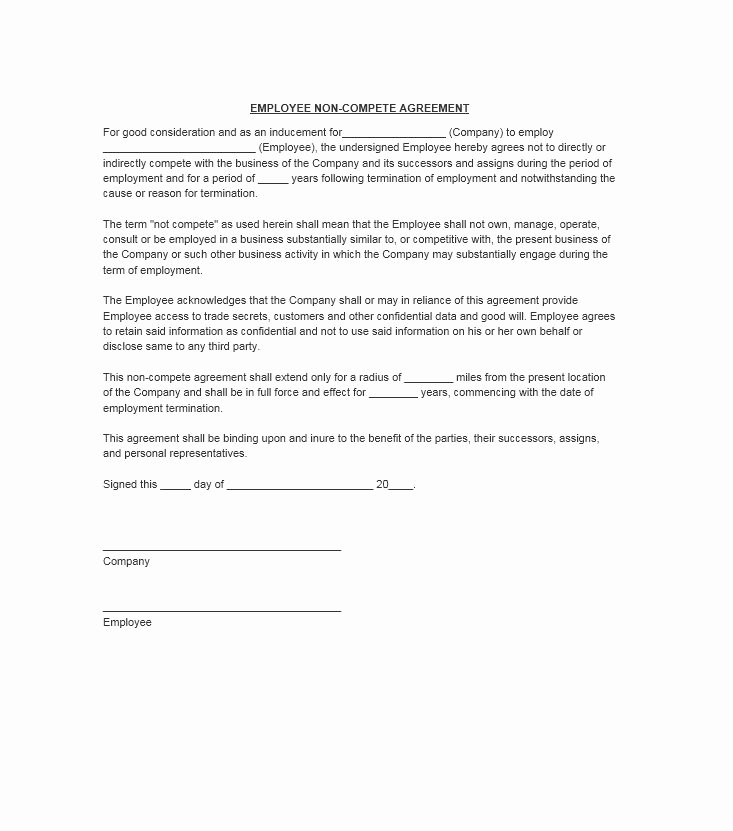 39 Ready to Use Non Pete Agreement Templates Free