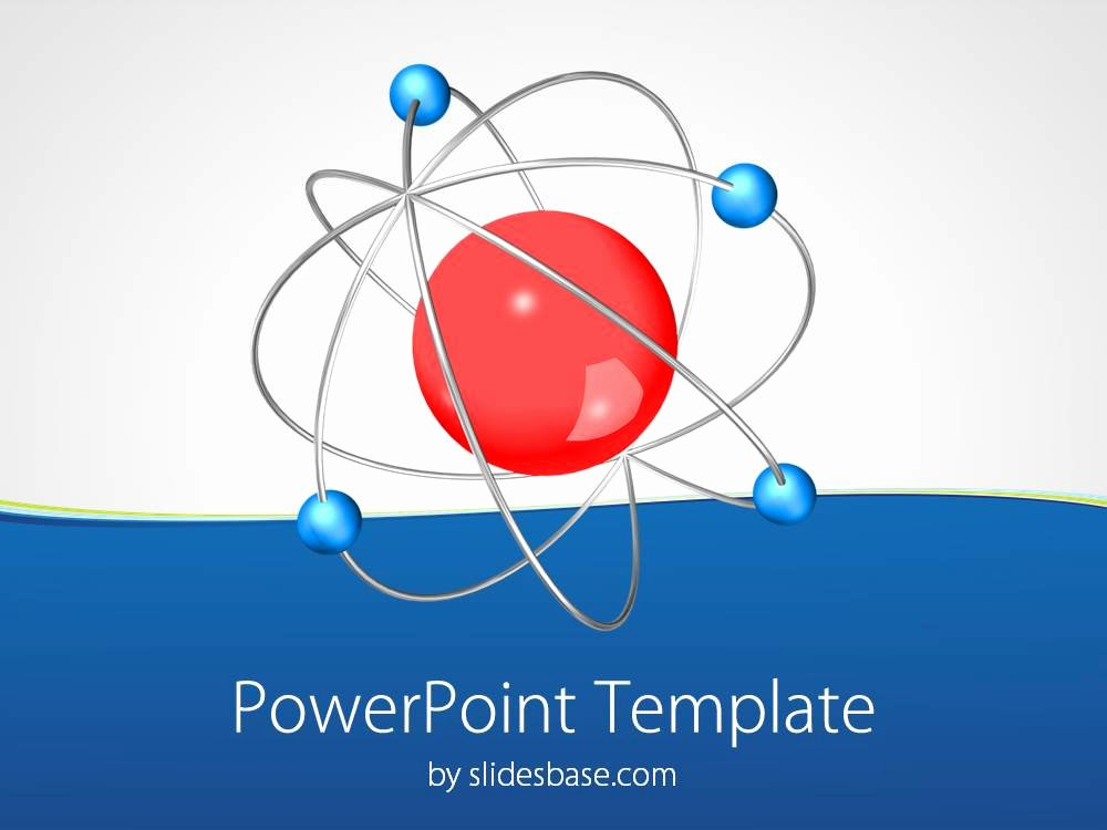 3d atom Powerpoint Template