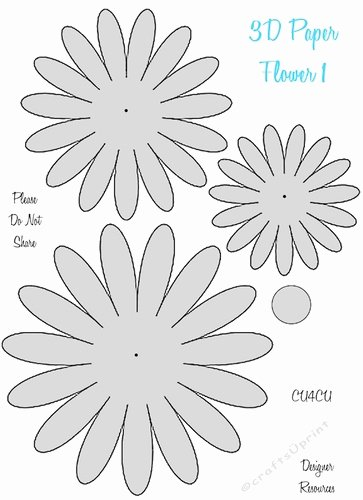 3d Paper Flower Templates Cu4cu Cup 2049