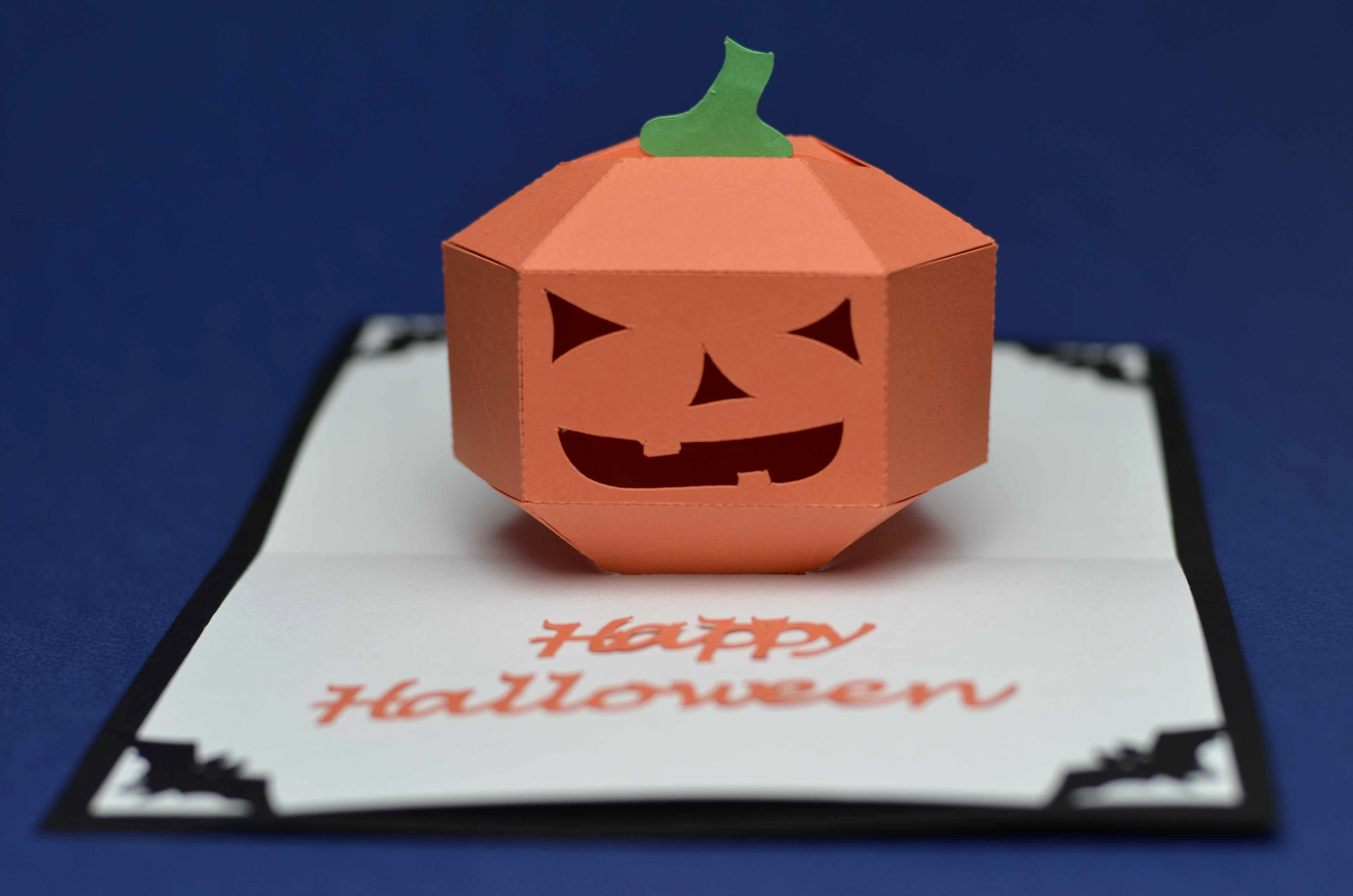 3d Pumpkin Pop Up Card Template Creative Pop Up Cards