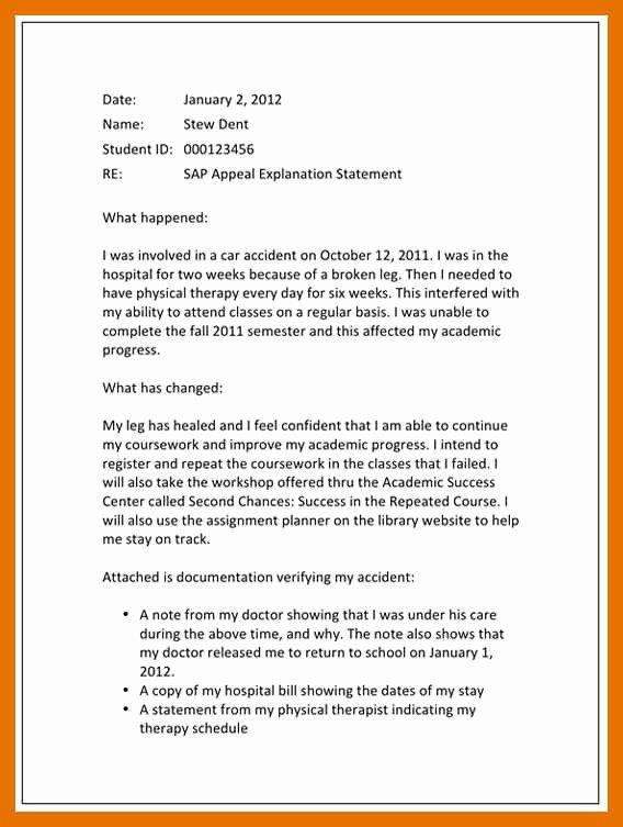 4 5 Sap Appeal Letter