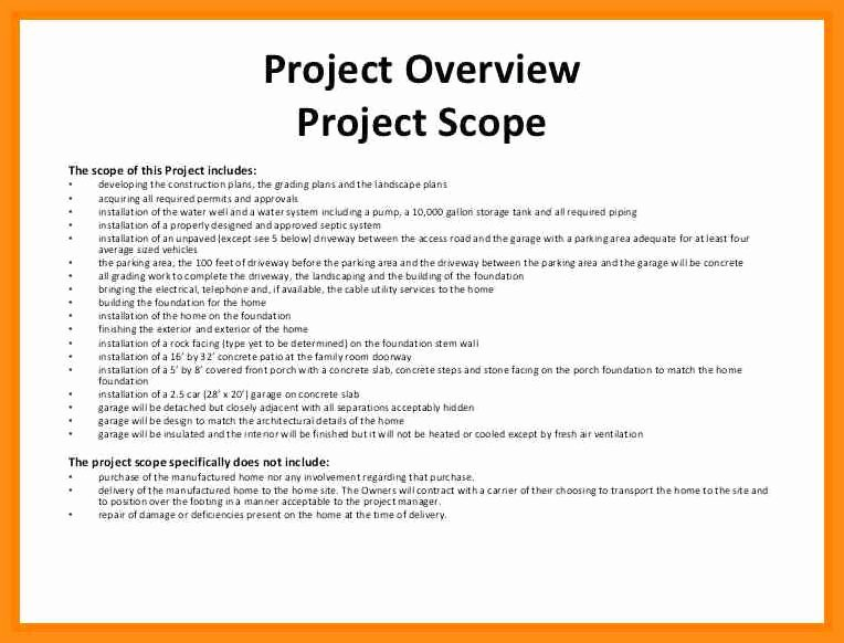 4 5 Scope Of Works Template Construction