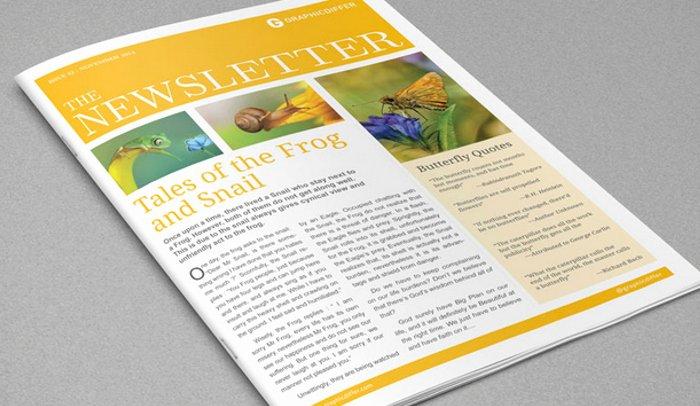 4 Adobe Indesign Newsletter Templates