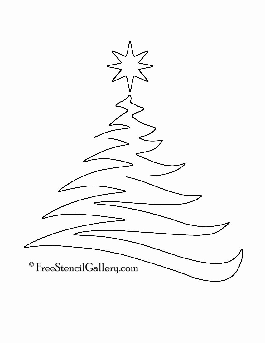 4 Best Of Christmas Tree Stencil Printable