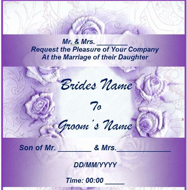 4 Best Of Free Printable Wedding Invitation
