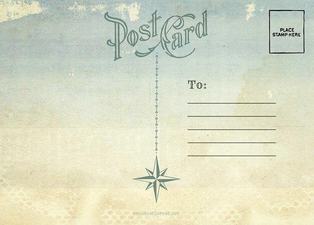 4 Best Of Postcard Back Design Vintage Postcard