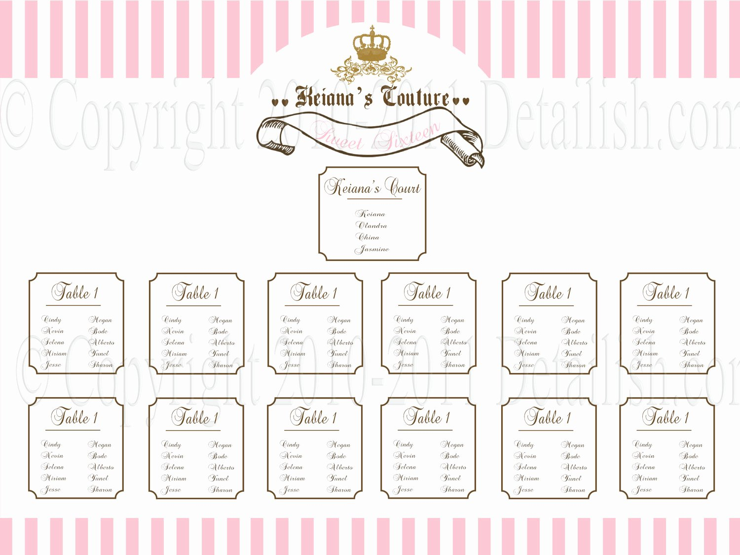 4 Best Of Printable Blank Wedding Seating Charts