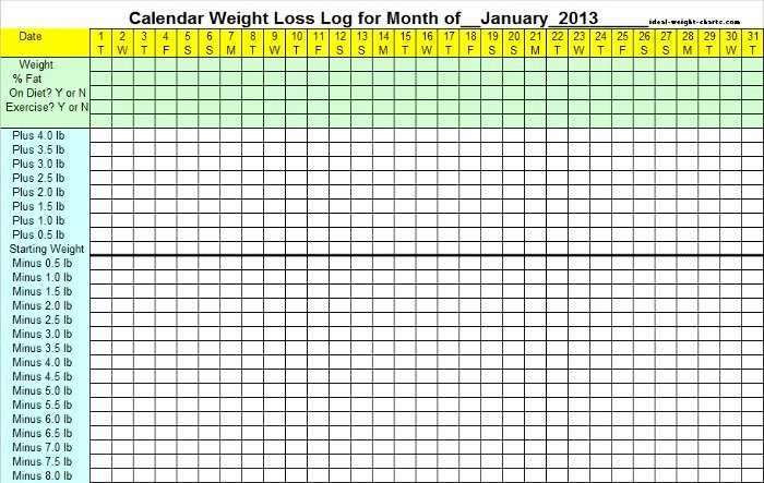 4 Best Of Weight Loss Calendar Printable Weight